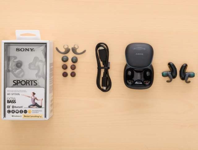 review sony wf-sp700n wireless earphones