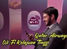 Qatar Airways Dilengkapi Wi-Fi Berkelajuan Tinggi