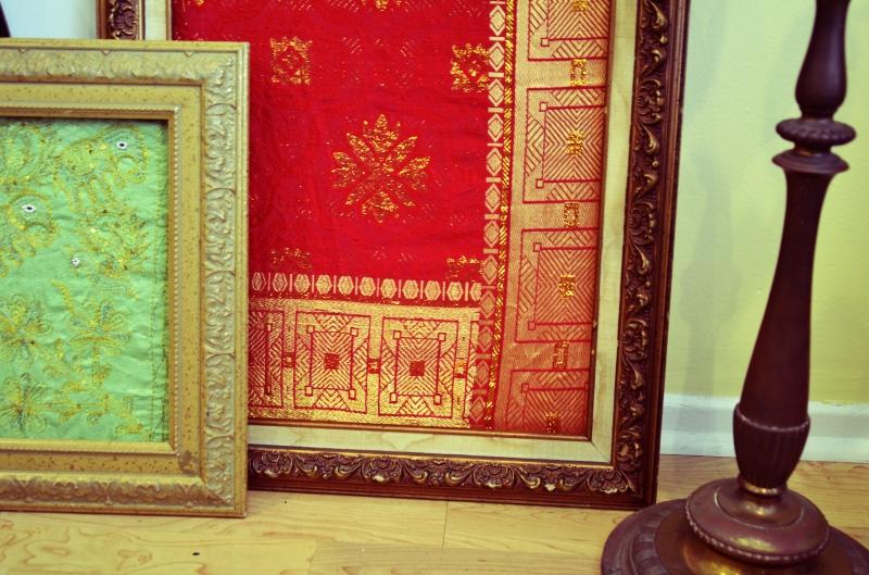 Mr Kate  DIY framed fabric art