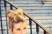 kate - diy hair bow bun tutorial