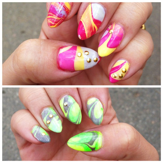 Prev Next Easy Way Water Marble Effect Your Nails Home