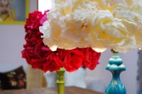 Mr. Kate - DIY faux flower lampshade