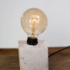 Kitchen Island Outlet Best Appliance Brands Mr. Kate - Diy Concrete Lamp