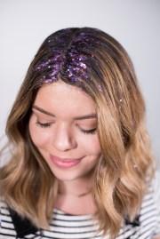 kate - diy glitter roots hair