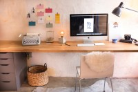 Mr. Kate - Built In Wall Desk on a Budget