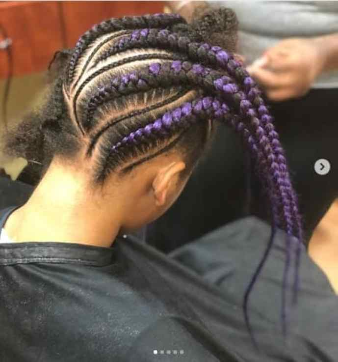 Reverse Braided Hairstyle