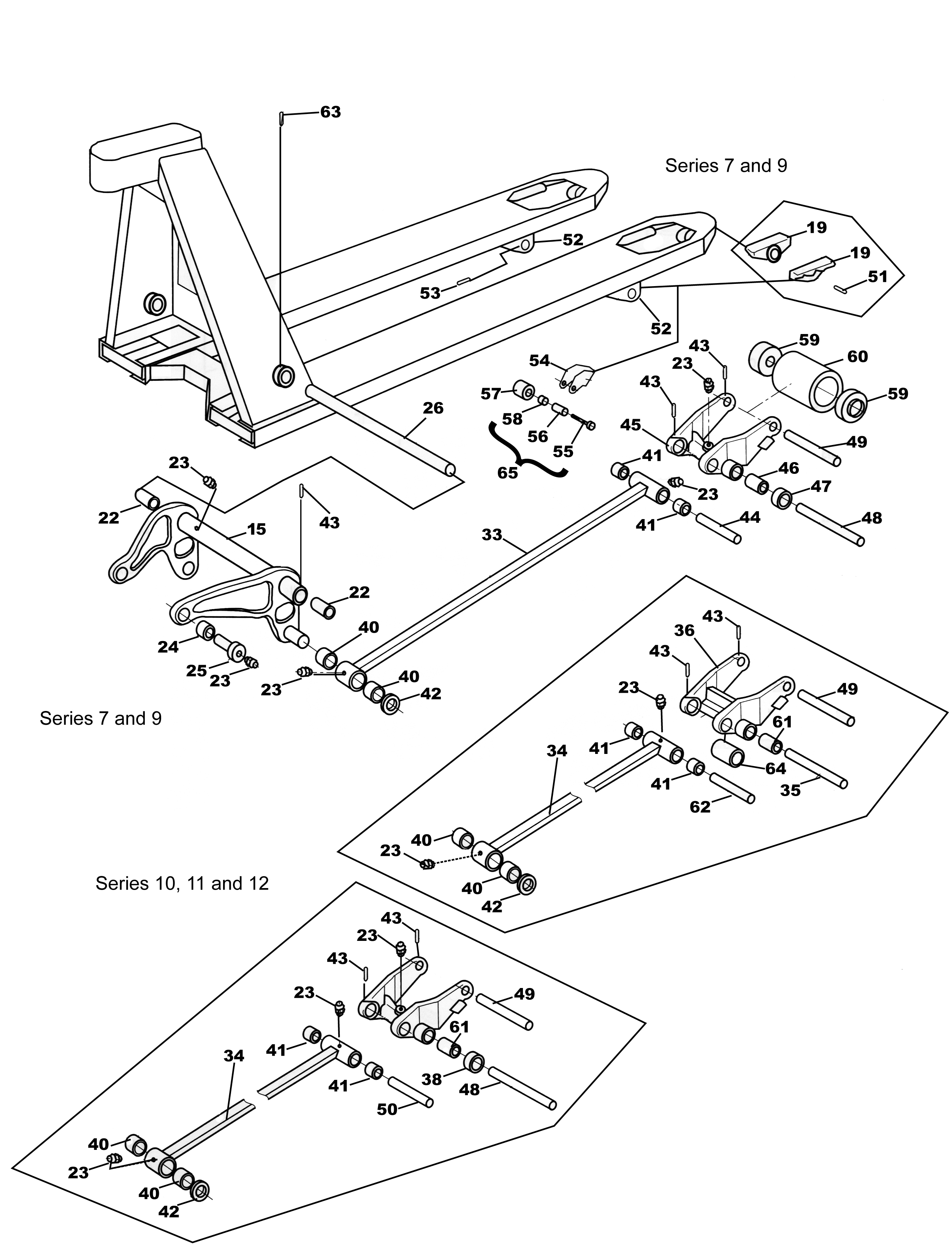 Parts for the BT L2000-U and L-2300-U Frame