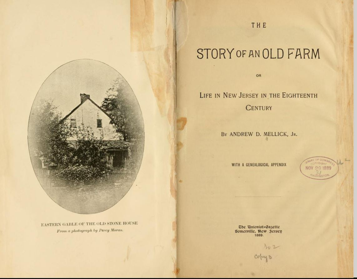 Story of an old farm by Andrew Mellick - Nr. Local History