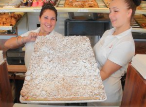 Baked on a sheet - Crumb cake from B&W in Hackensack ranks right up at the top of the list.