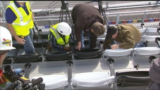 The final seat of Daytona Rising was installed January 19, 2016