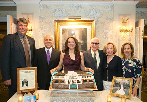 Members of the Bocina Group at their 20th anniversary celebration back in 2014. From left to right: Rich Crepeau (partner), Bruce Bocina, Brenda Curnin, Casper Bocina, Phyllis Bocina, Barbara Curtin Credit: The Olde Mill Inn archives