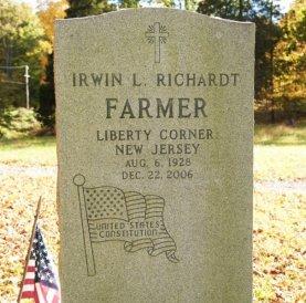 Irwin Richard Headstone
