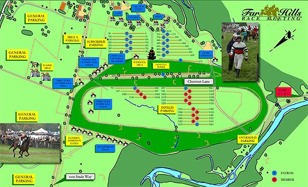 Map of the 2006 Far Hills Race course.