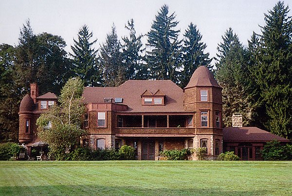 """1891 - Yademos (""""someday"""" spelled backwards) Estate of Charles Pfizer- known as the Father of the Race Meeting (originally built by George I. Seney in 1881).  Off Mendham Road in Bernardsville."""