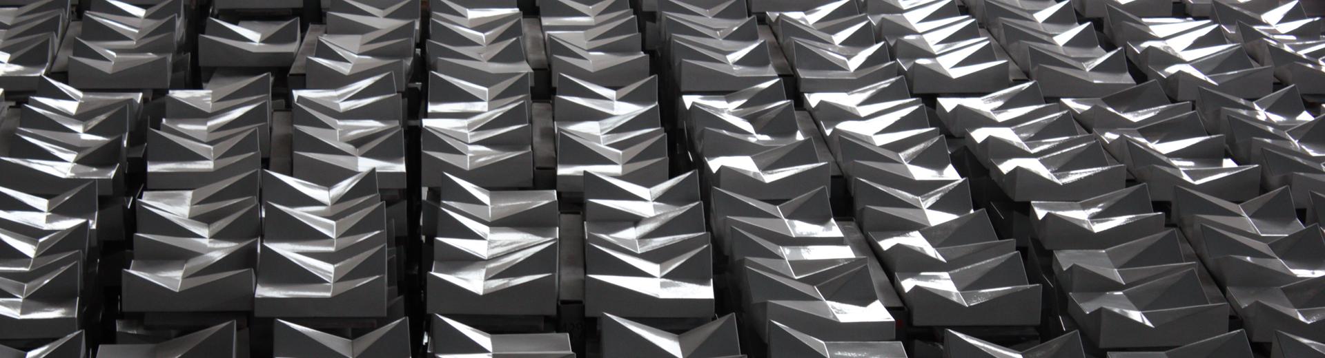 Keramikfassade Sonderkeramik 3D-Keramik Fassade