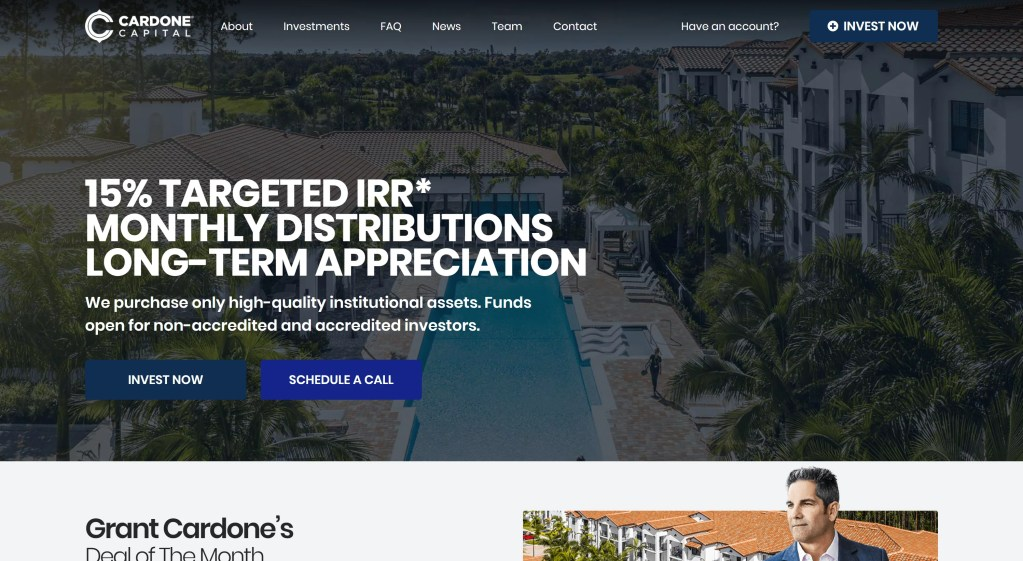 How to find real estate syndication deals as a non-accredited investors - Cardone Capital