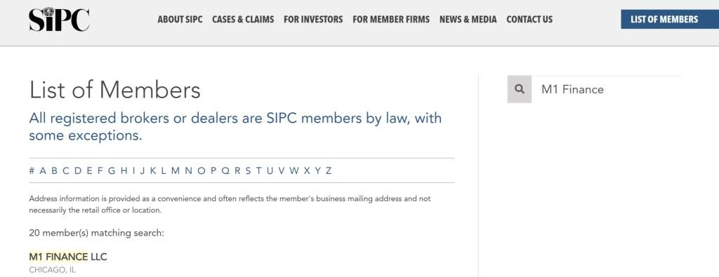 M1 Finance SPIC Insurance