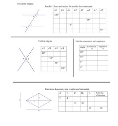 Worksheets On Complementary And Supplementary Angles   Printable Worksheets  and Activities for Teachers [ 1651 x 1275 Pixel ]