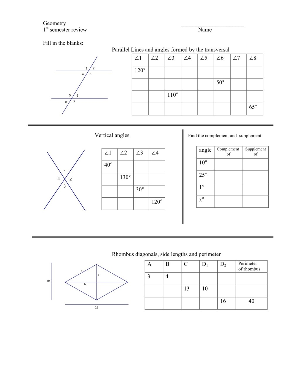 medium resolution of Worksheets On Complementary And Supplementary Angles   Printable Worksheets  and Activities for Teachers