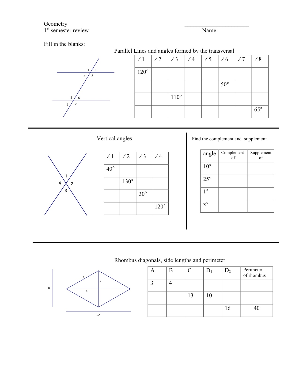 hight resolution of Worksheets On Complementary And Supplementary Angles   Printable Worksheets  and Activities for Teachers