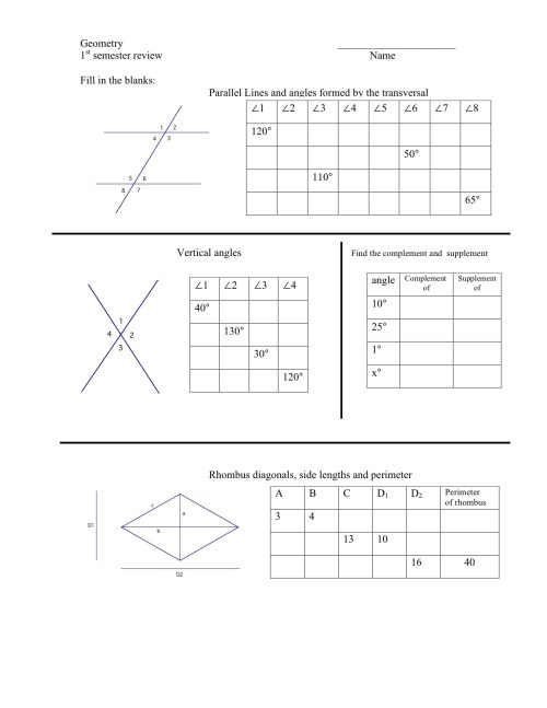 small resolution of Worksheets On Complementary And Supplementary Angles   Printable Worksheets  and Activities for Teachers