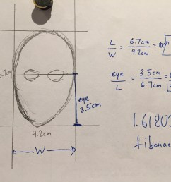 then he has them measure the ratio of the height of the face to the eye height he collects all the data and has the students make a box plot  [ 3264 x 2448 Pixel ]