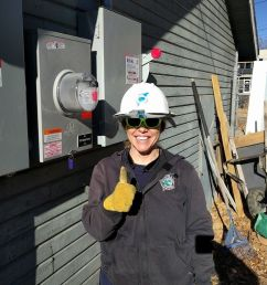 the amazing kari spotts lpc s lead of renewable power metering helps me swap in a new dual flow electric meter at the successful completion of this  [ 976 x 911 Pixel ]
