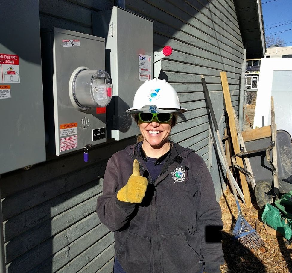 hight resolution of the amazing kari spotts lpc s lead of renewable power metering helps me swap in a new dual flow electric meter at the successful completion of this