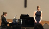 Advanced Vocal winner Elena Howard-Scott with Lisa Rumpel piano