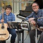 A teacher and student duet at Musicthon 2020