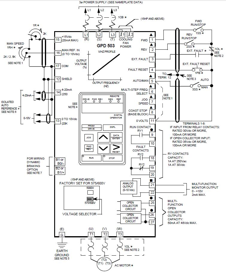 magnetek gpd 503 wiring diagram