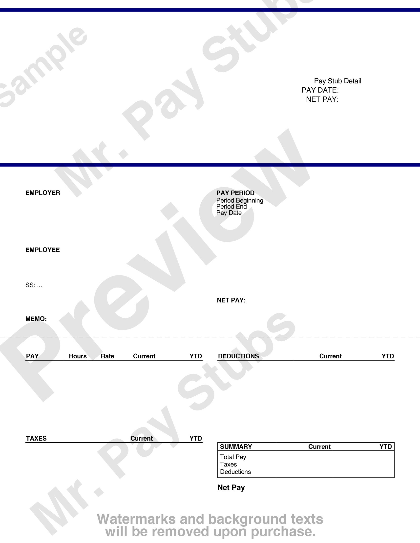 medium resolution of pay stub preview