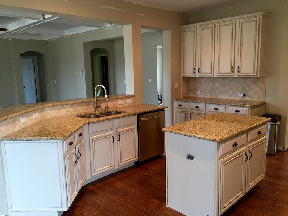 repaint kitchen cabinets gooseneck faucet with spray painting | before & after mr. painter ...