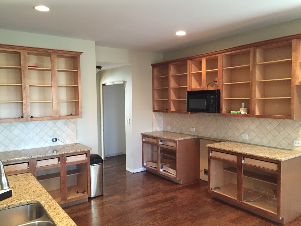 Painting Kitchen Cabinets  Before  After  Mr Painter