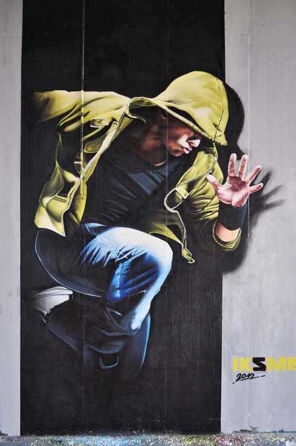 Bart Smeets, imaginative street art, graffiti art, street artists, urban murals, urban art, mr pilgrim art.