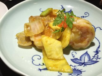 Hakkasan shrimp pineapple