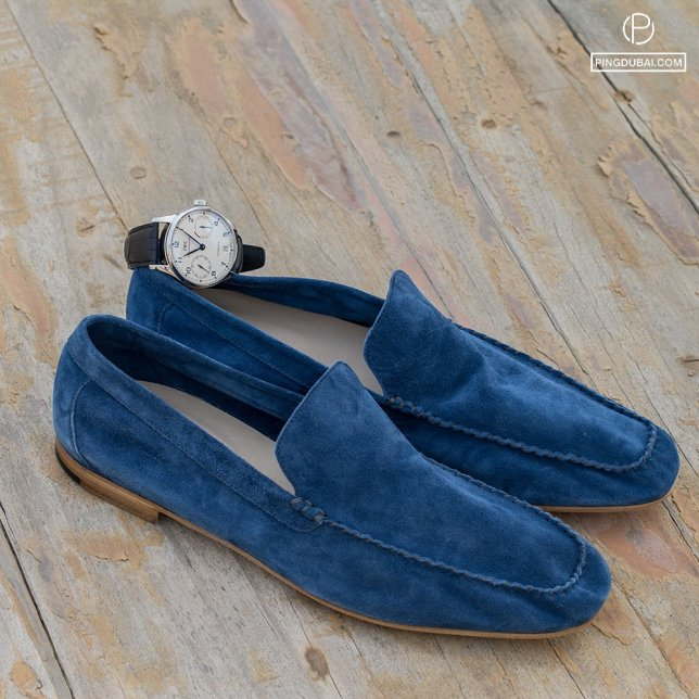 Mocassino blue shoes   IWC Portugieser Automatic