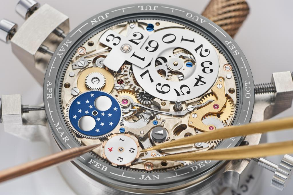 LANGE 1 TOURBILLON PERPETUAL CALENDAR full mechanism