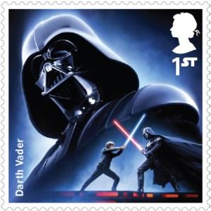 Darth Vader Royal Mail Stamp