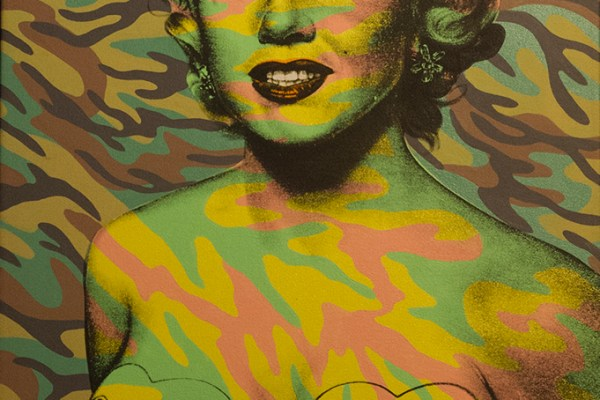 Pop art image of Marilyn Monroe by Ron English on display at the Wynwood Walls