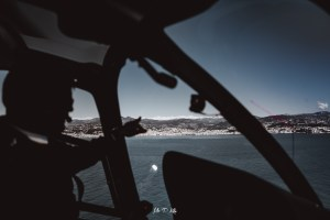 Image of pilot on Monacair helicopter flight
