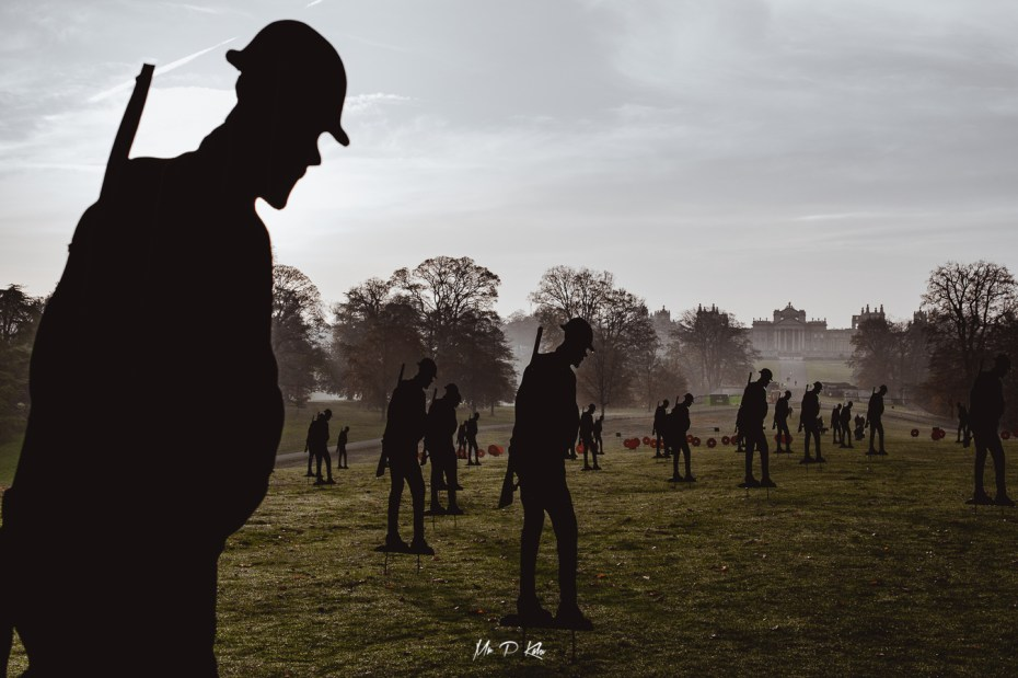 Image of the Standing with Giants 2020 installation in Blenheim Palace in aid of the Royal British Legion