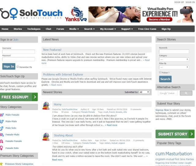 Sex Story Sites Solo Touch