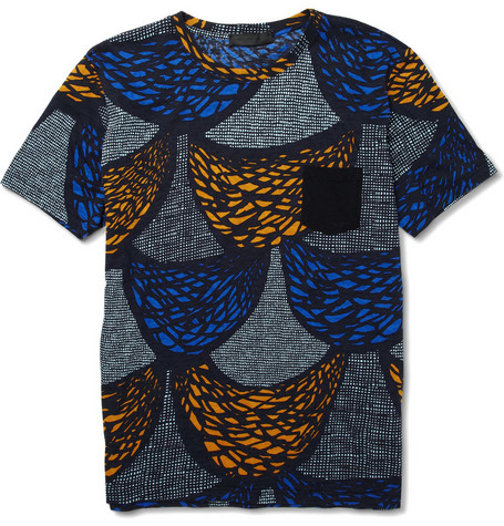 Burberry Prorsum Printed Cotton Jersey T-Shirt
