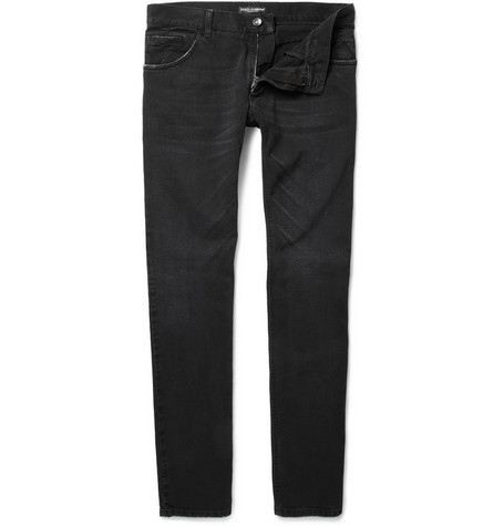 Dolce & Gabbana Black-Fit Tapered Jeans
