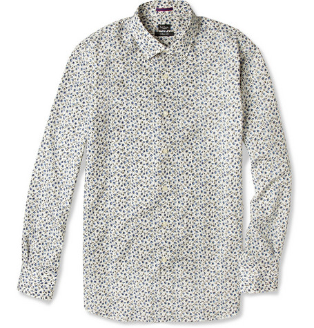 Paul Smith London Slim-Fit Floral-Print Cotton Shirt