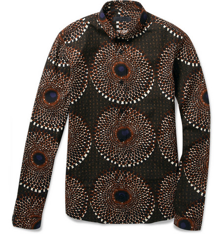 Burberry Prorsum Printed Slim-Fit Cotton Shirt