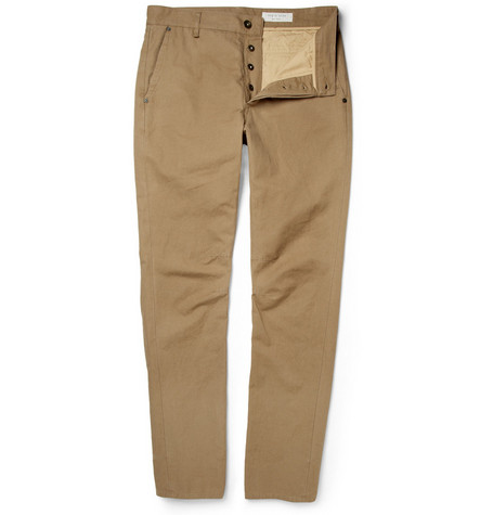 Rag & bone Slim-Fit Cotton and Linen-Blend Chinos