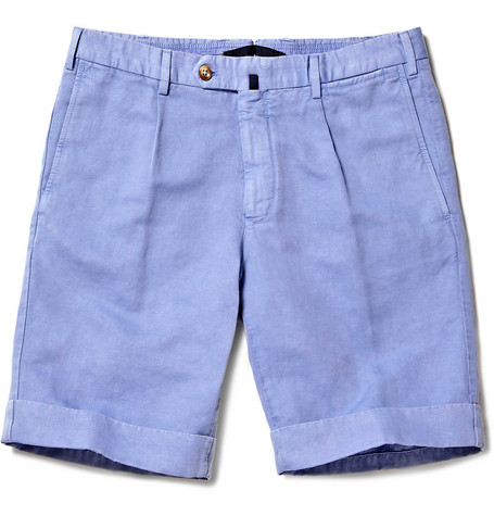 Linen-Blend Chino Shorts by Incotex