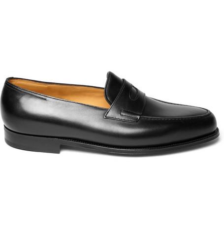 John Lobb Lopez Leather Loafers
